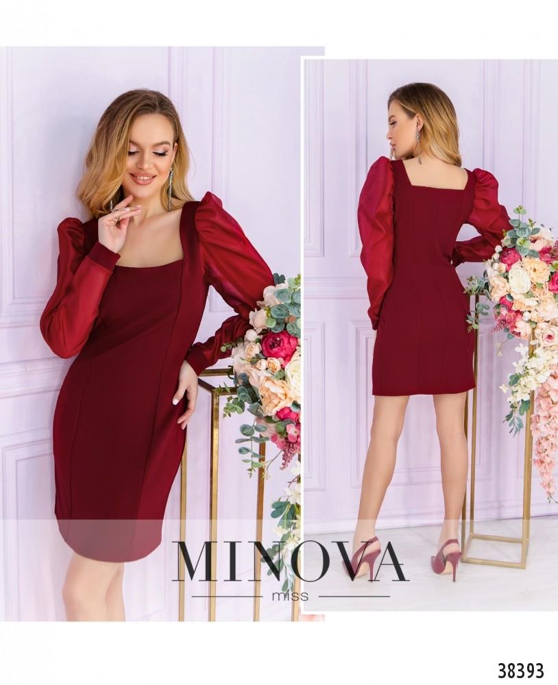 Платье №247-1-красный-М