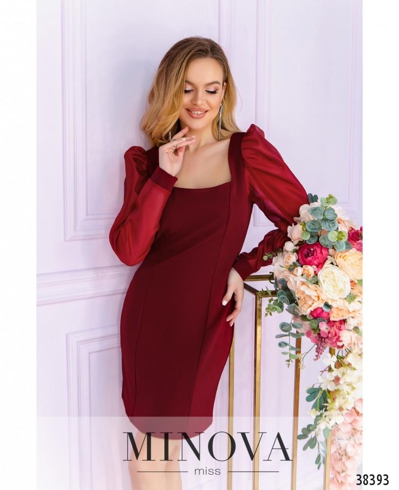 Платье №247-1-красный (н)