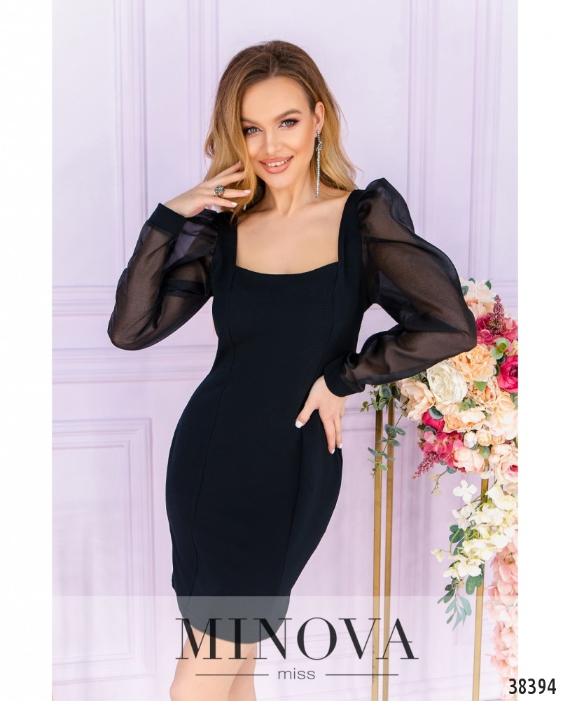 Платье №247-1-черный (н)