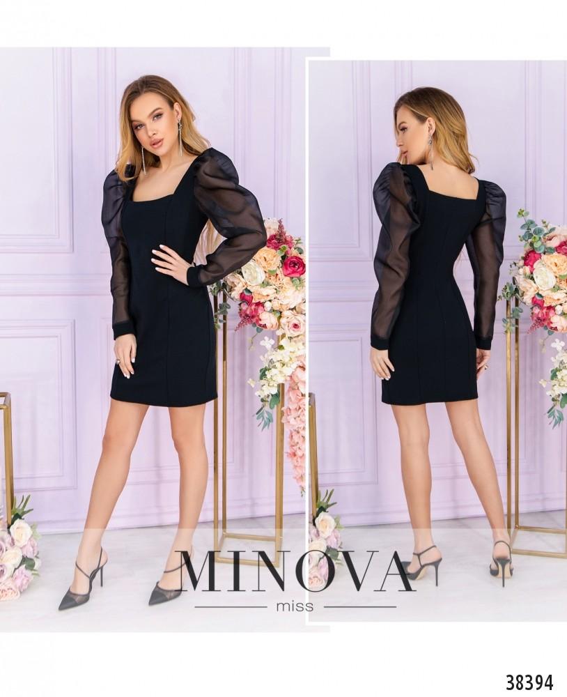 Платье №247-1-черный-М