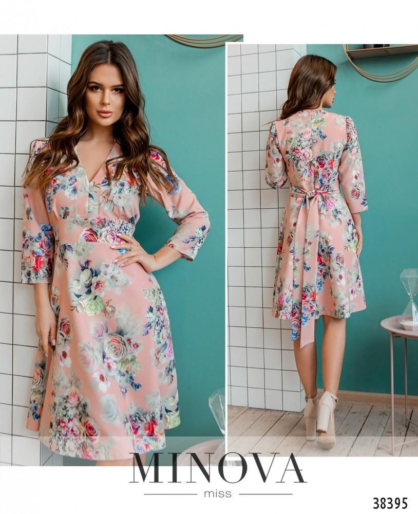 Платье №3140-пудра-М