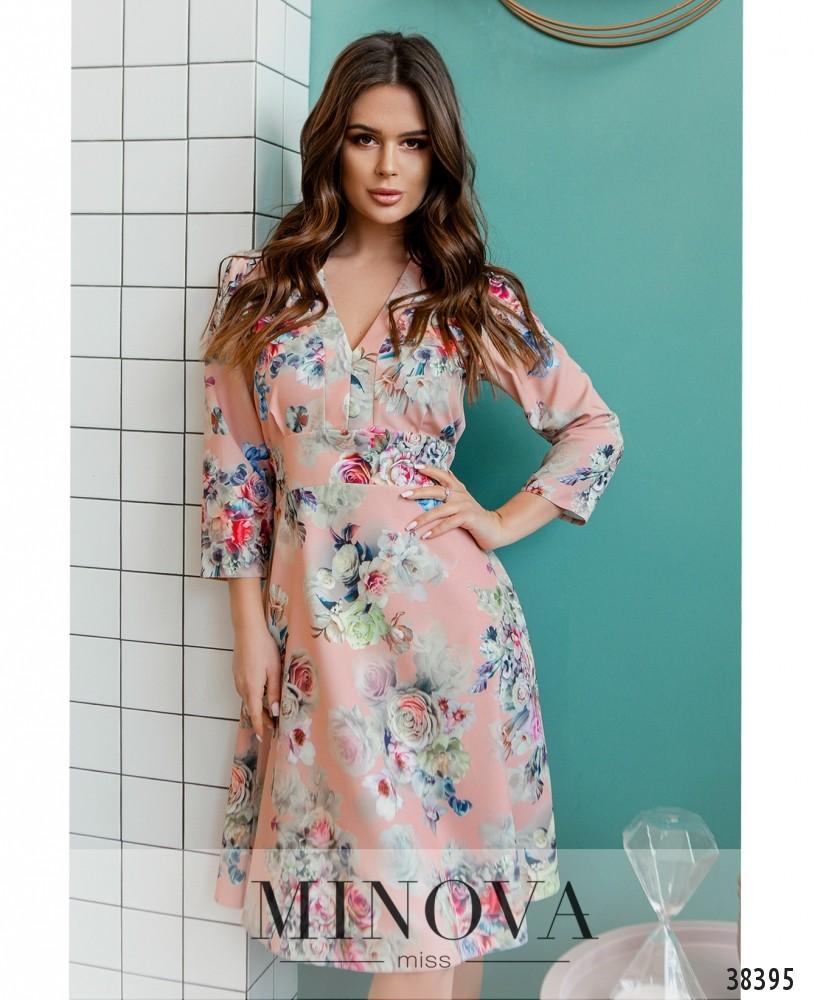 Платье №3140-пудра (н)