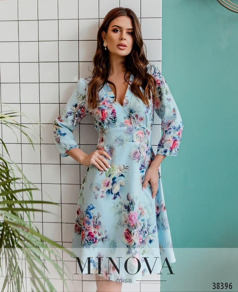 Платье №3140-голубой (н)