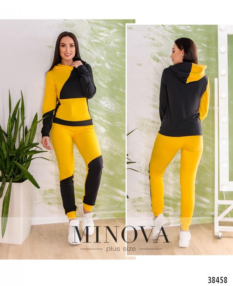 Спортивный костюм №223-желто-черный-М