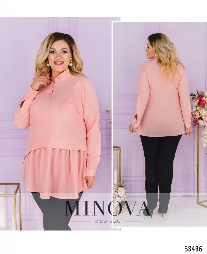 Рубашка №3323-розовый-М