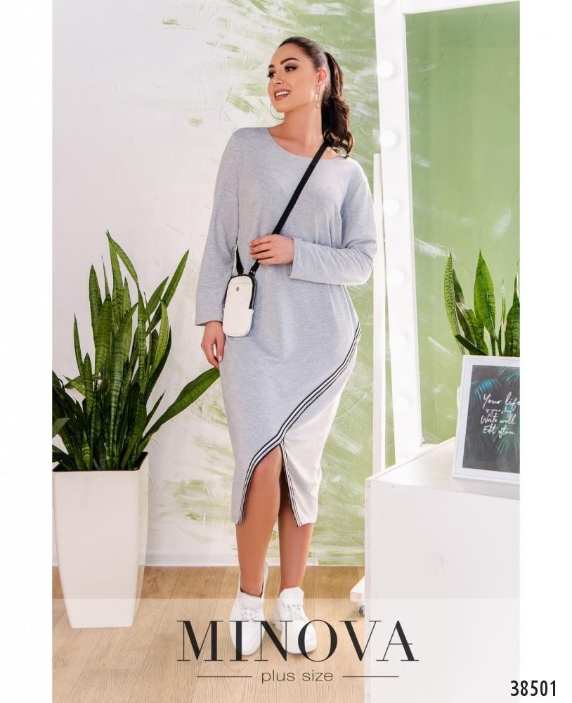 Платье №809-серый