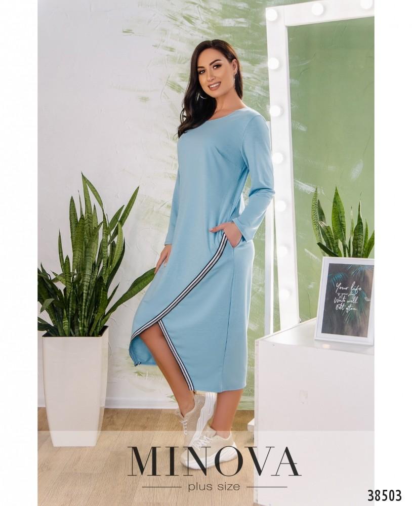 Платье №809-голубой
