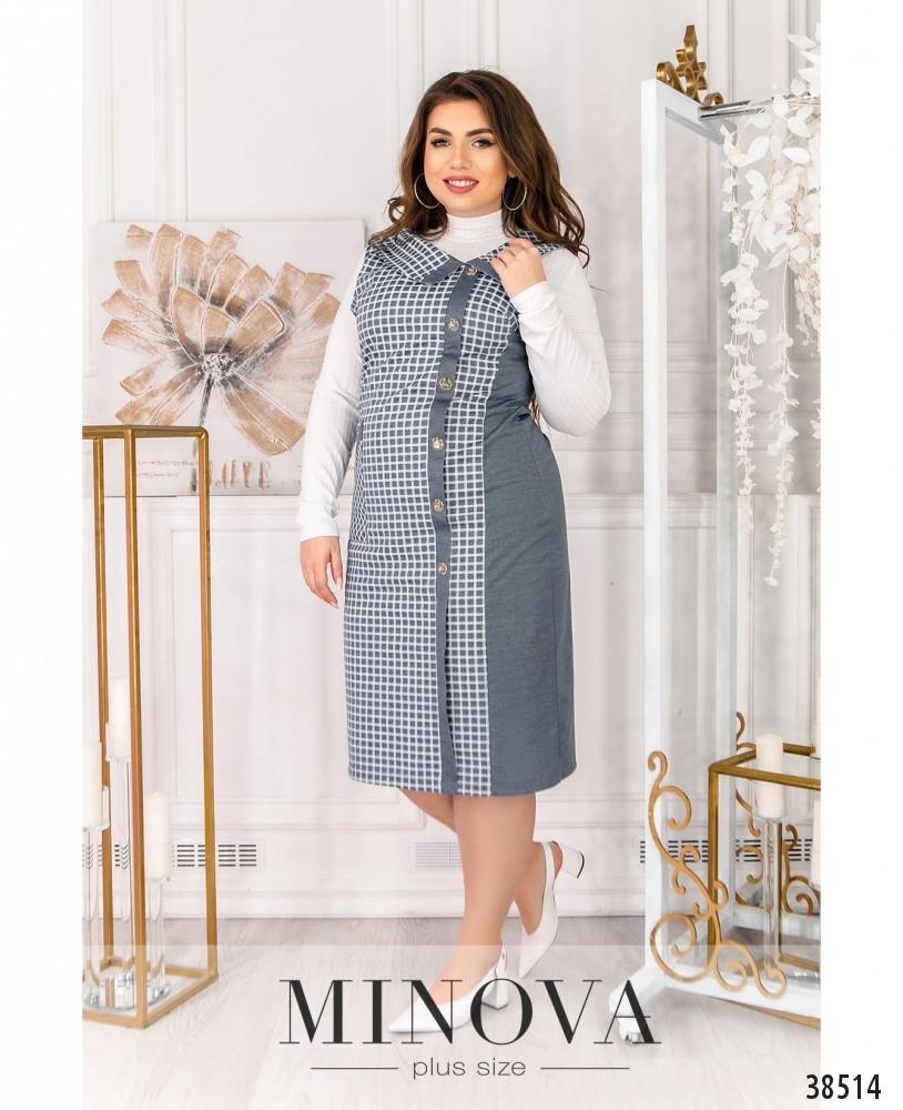 Платье №496Б-светло-серый