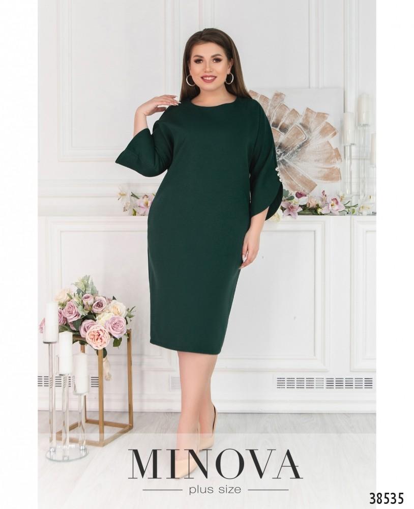 Платье №244Б-темно-зеленый