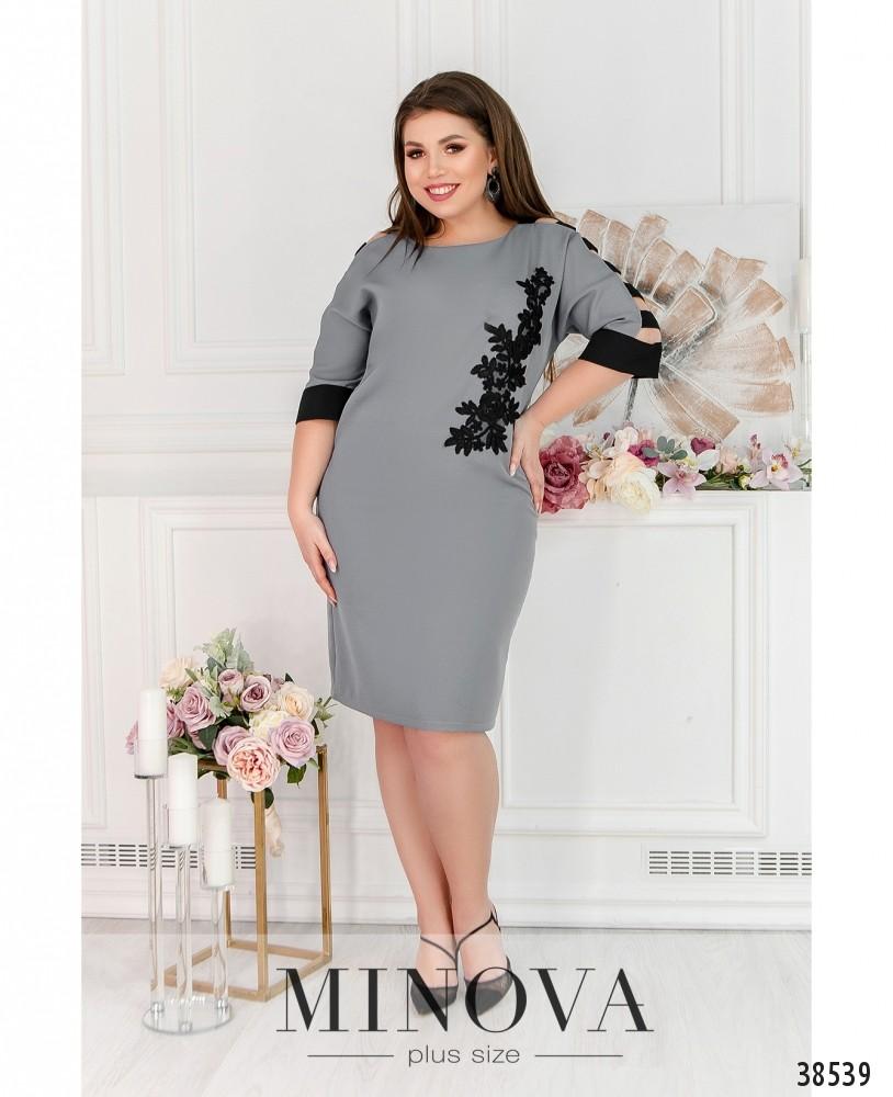Платье №245-серый