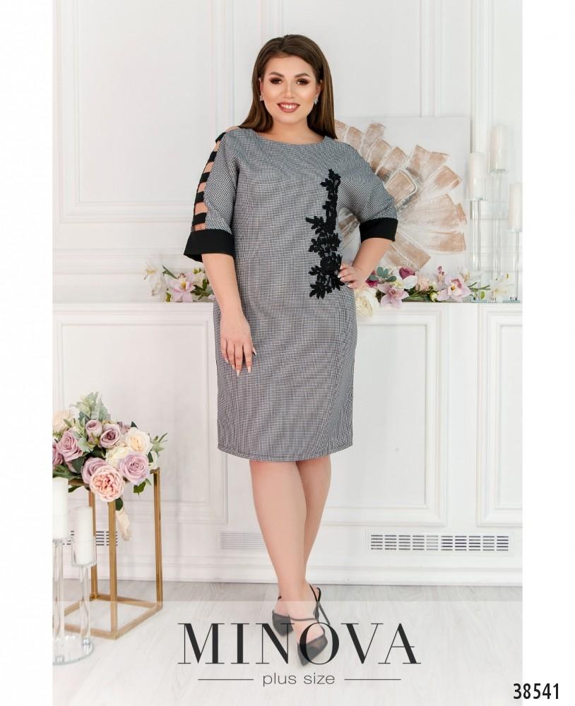 Платье №245-чёрно-белый
