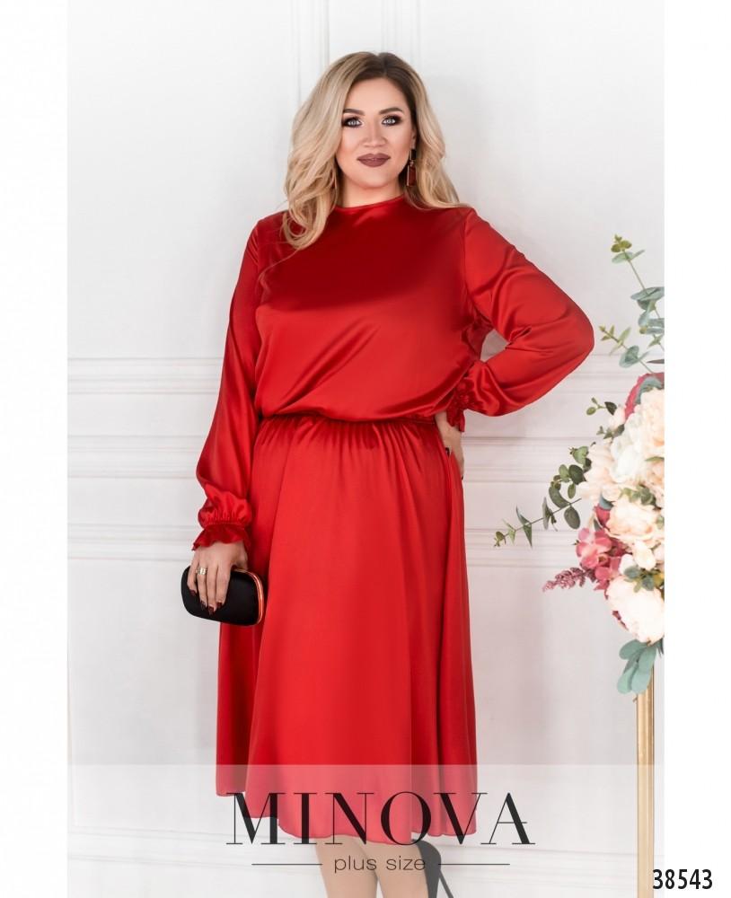 Платье №703Б-красный