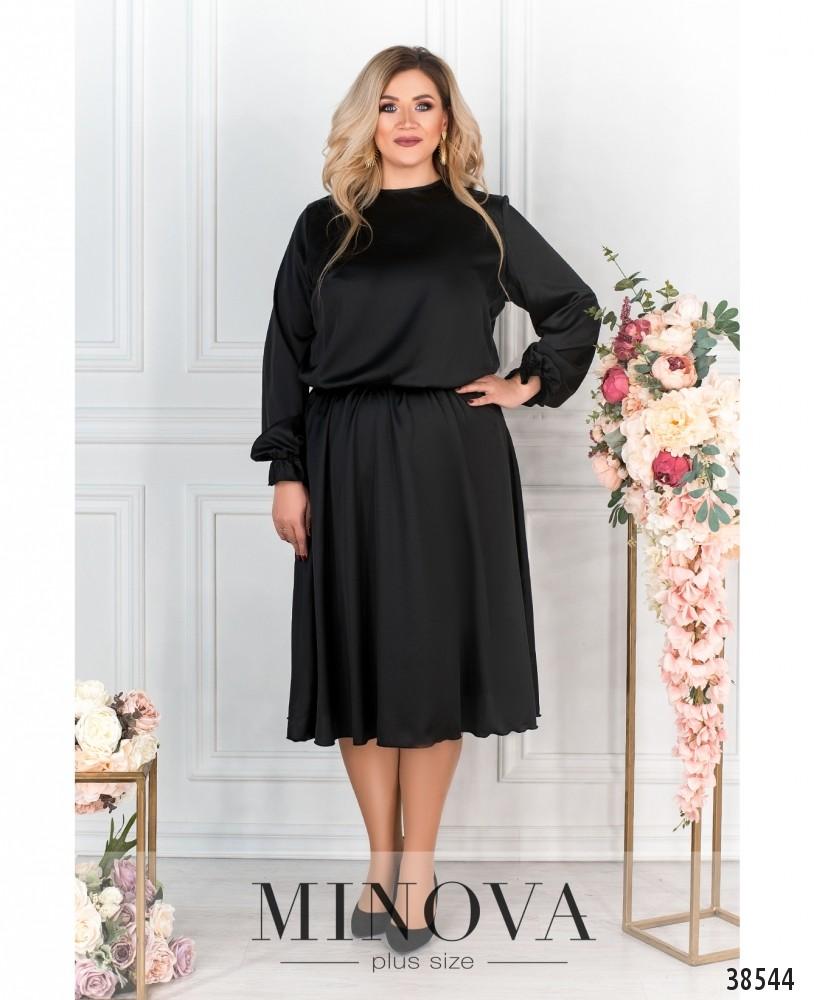 Платье №703Б-черный
