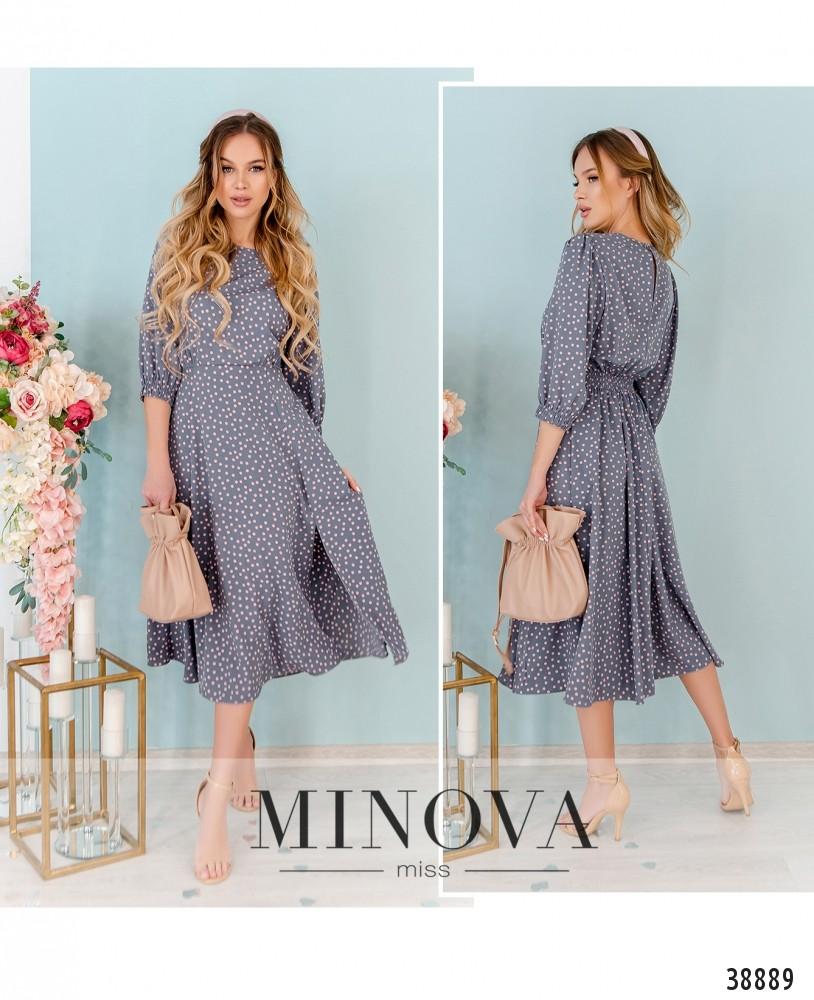 Платье №3142-серый-М