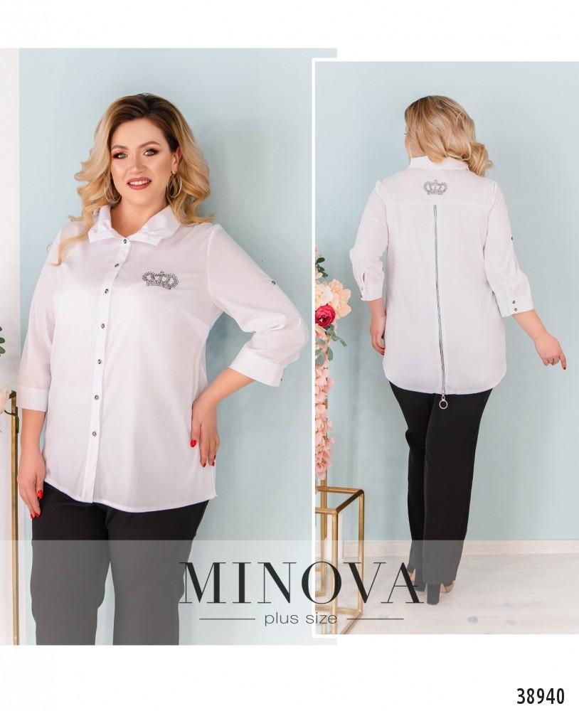 Рубашка №3317-белый-М