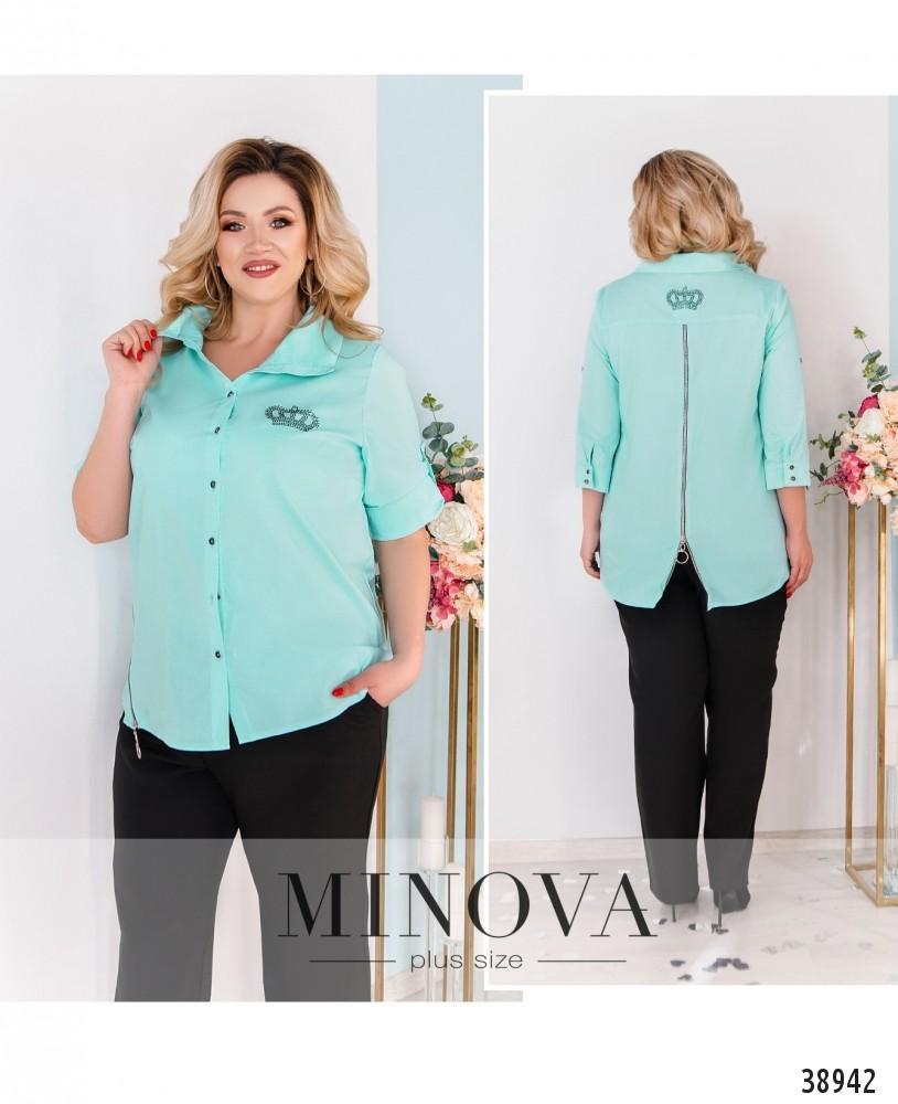 Рубашка №3317-ментол-М