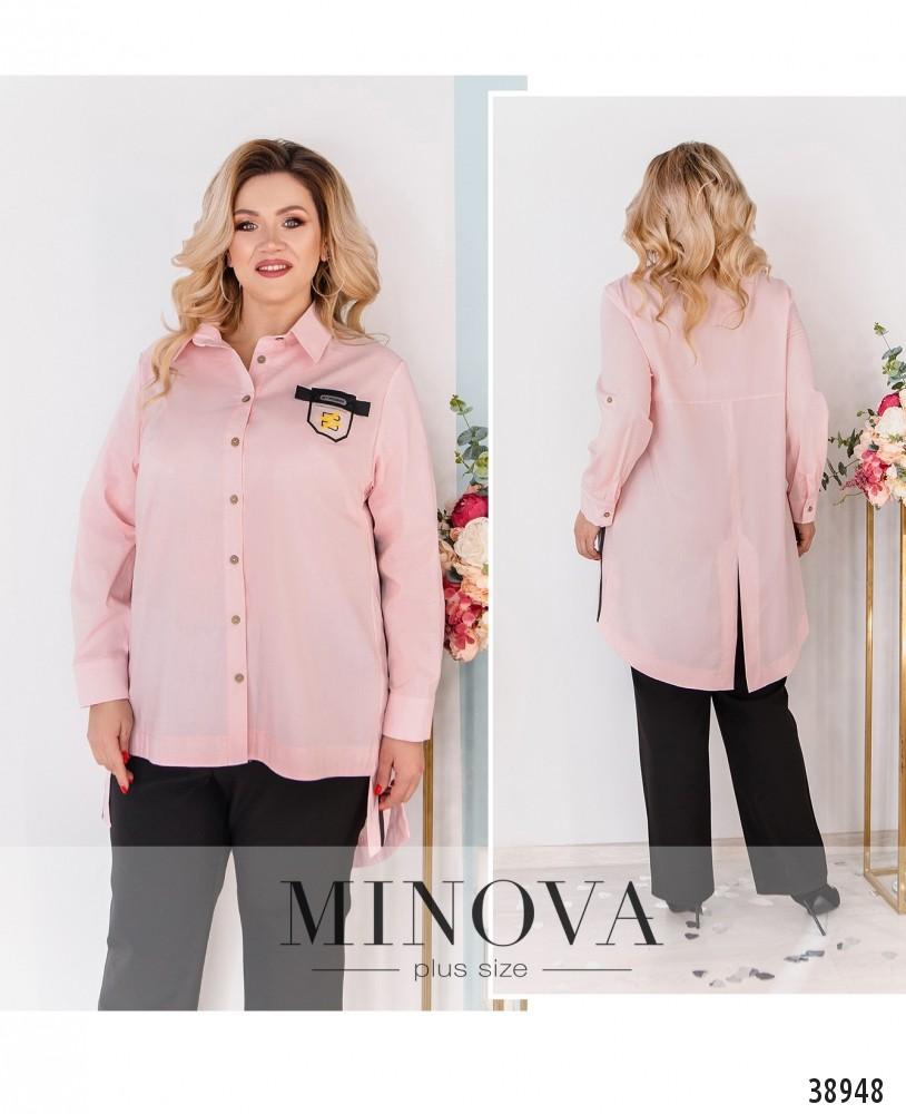 Рубашка №3318-розовый-М