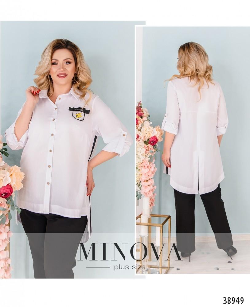 Рубашка №3318-белый-М