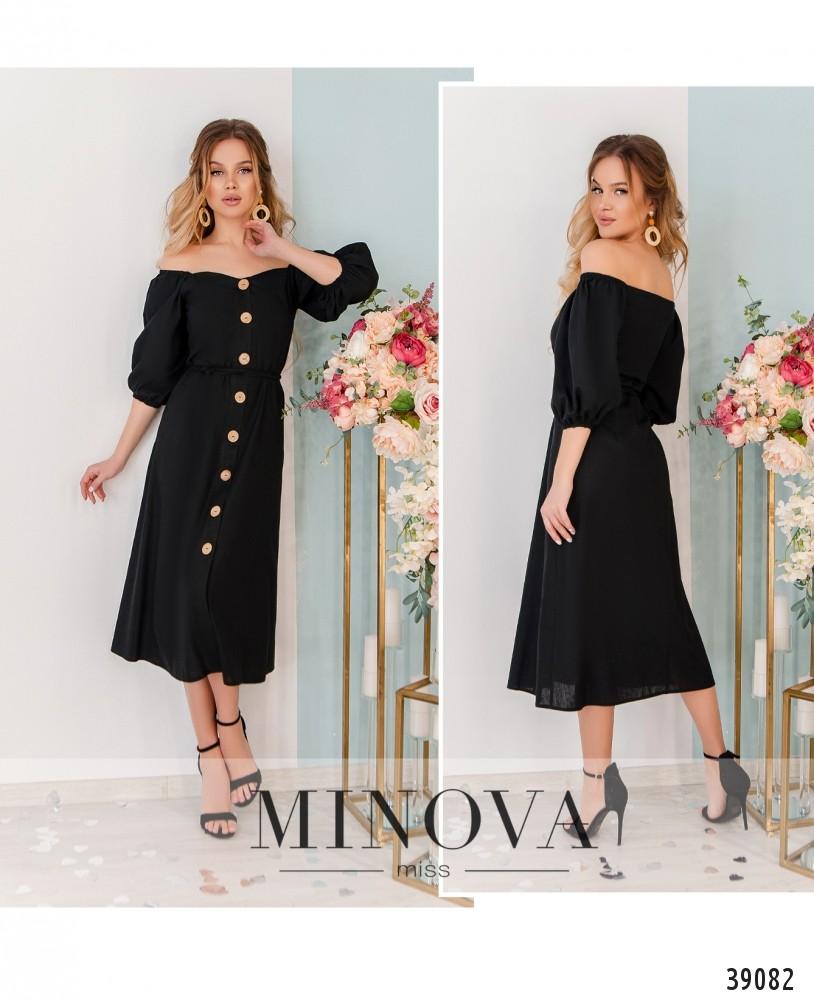Платье №1842-чёрный-М