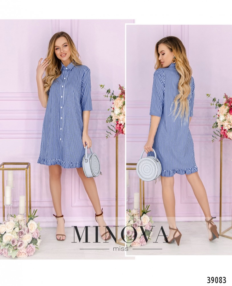 Платье №16441-голубой-М