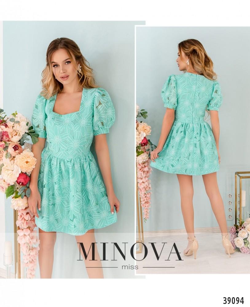 Платье №249Н-мята-М