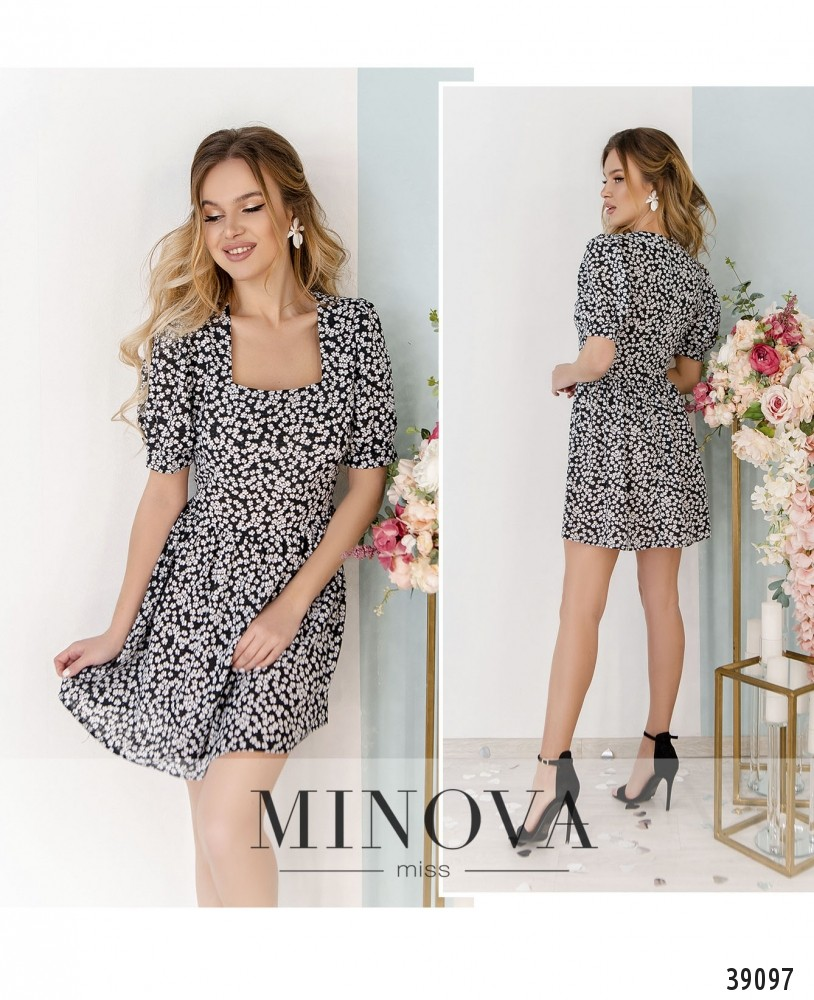 Платье №248Н-черно-белый-м