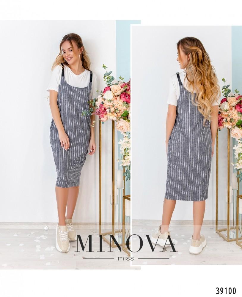 Платье №15-серый-М