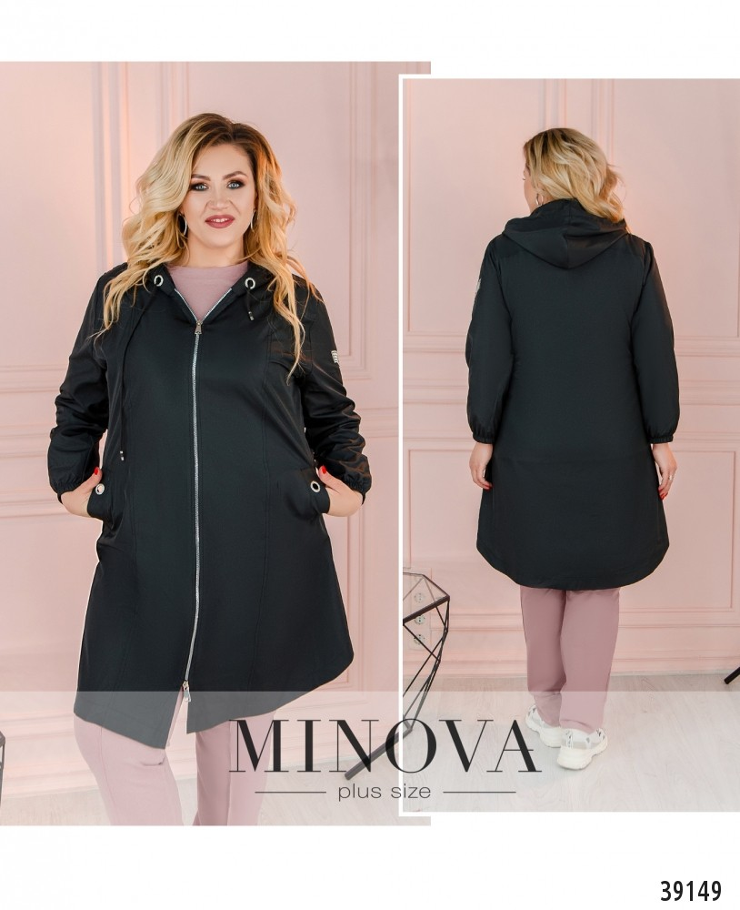 Куртка №3322-черный-М