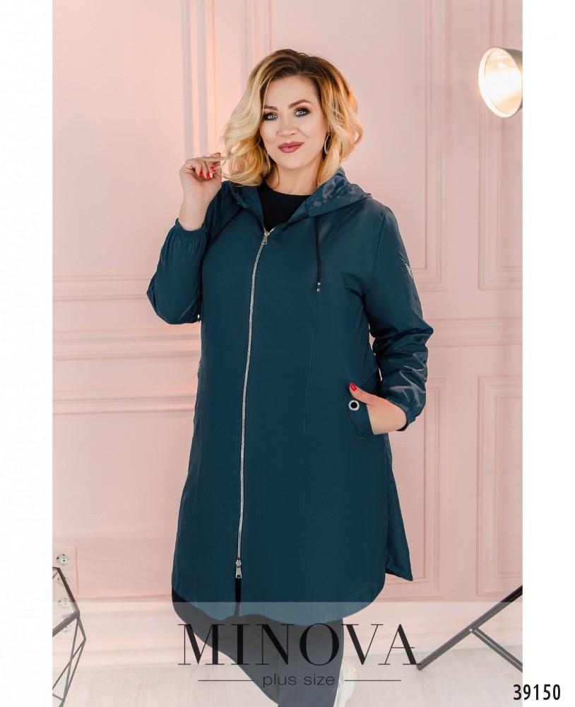 Куртка-ветровка №3322-синий