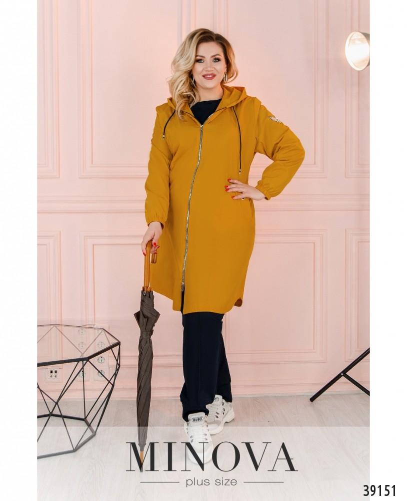 Куртка-ветровка №3322-горчица