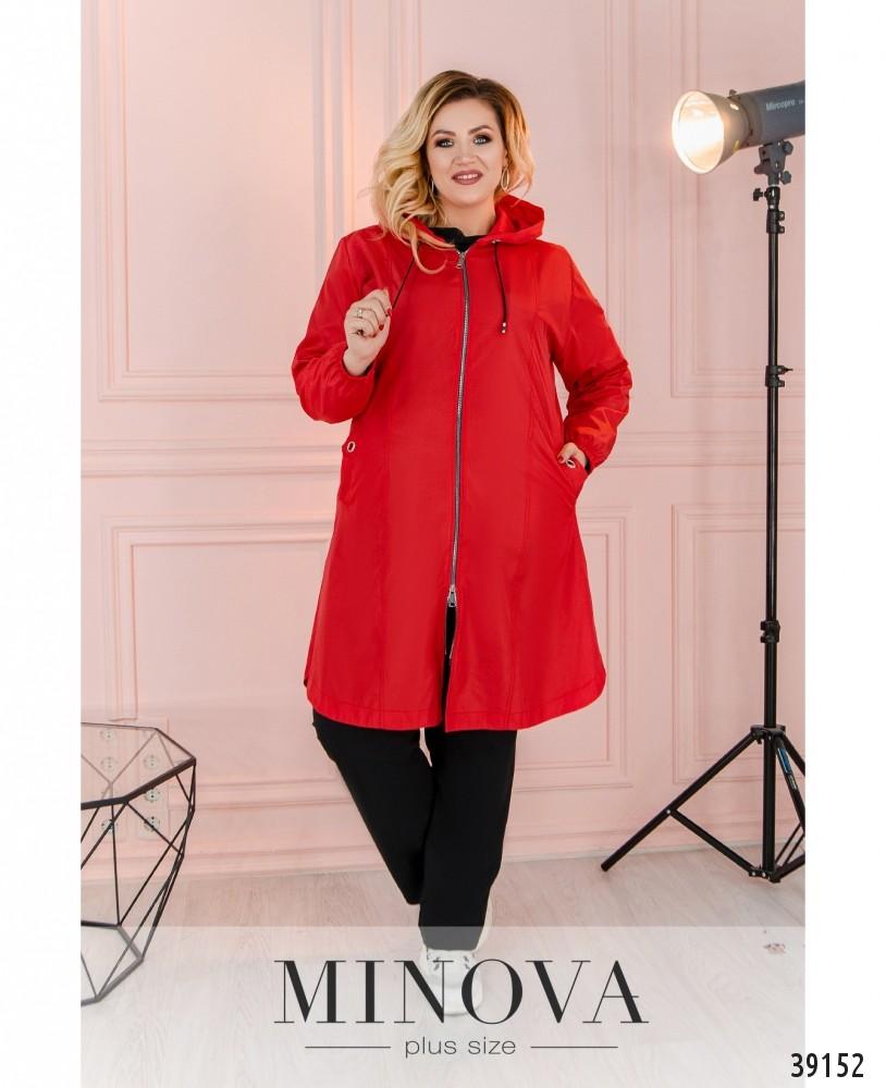 Куртка-ветровка №3322-красный