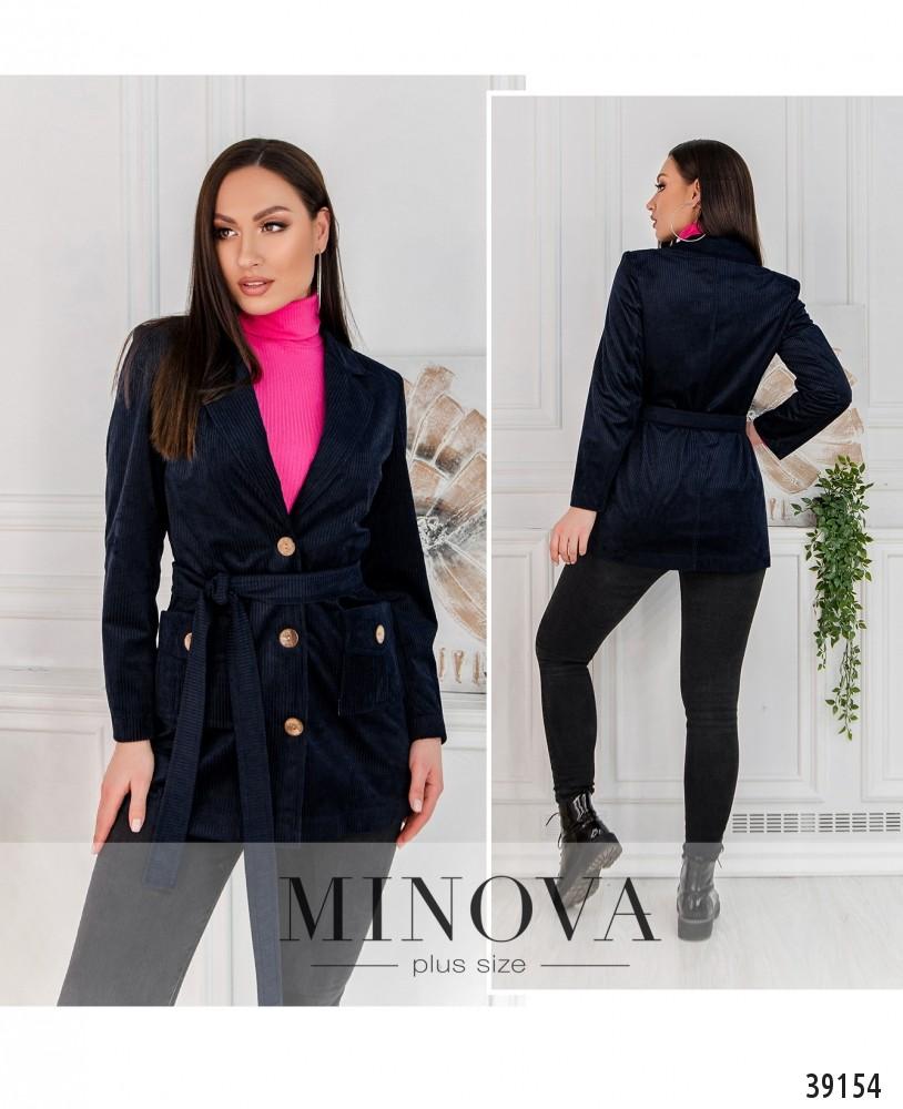 Пиджак №495-синий-М