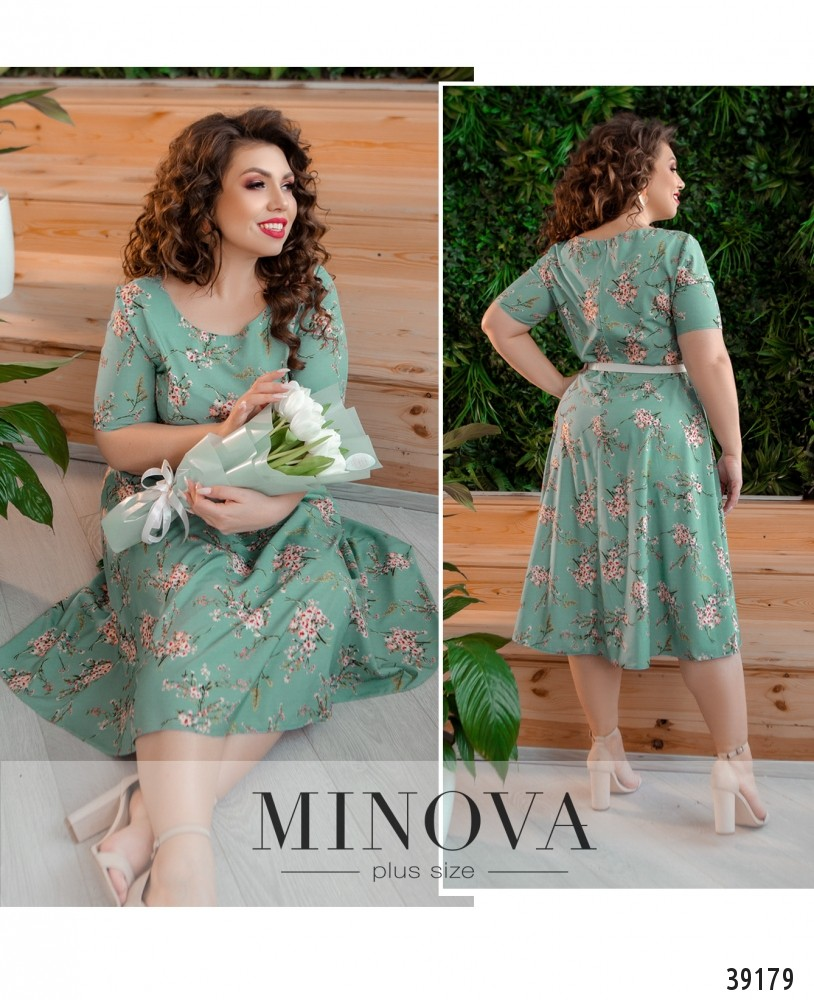 Платье №19-12-мятный-М