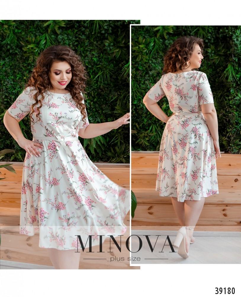 Платье №19-12-молочный-М