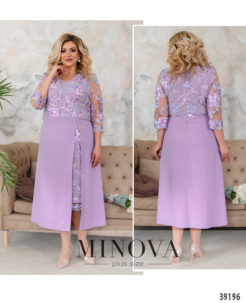 Платье №421Б-сиреневый-М