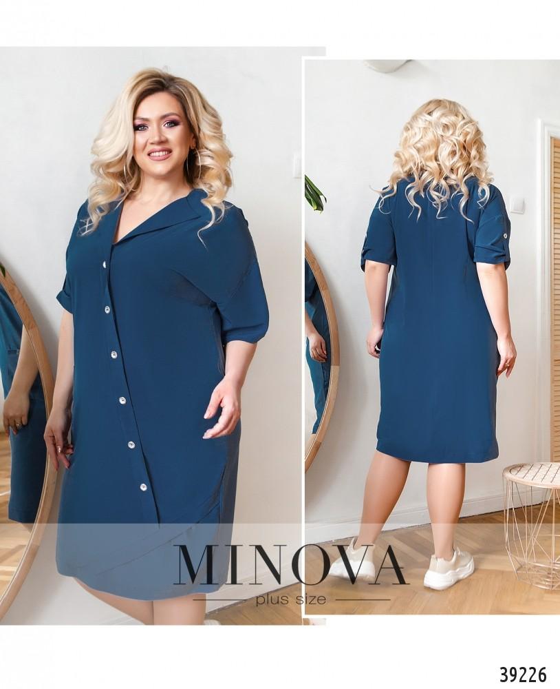 Платье №8-229-деним-М