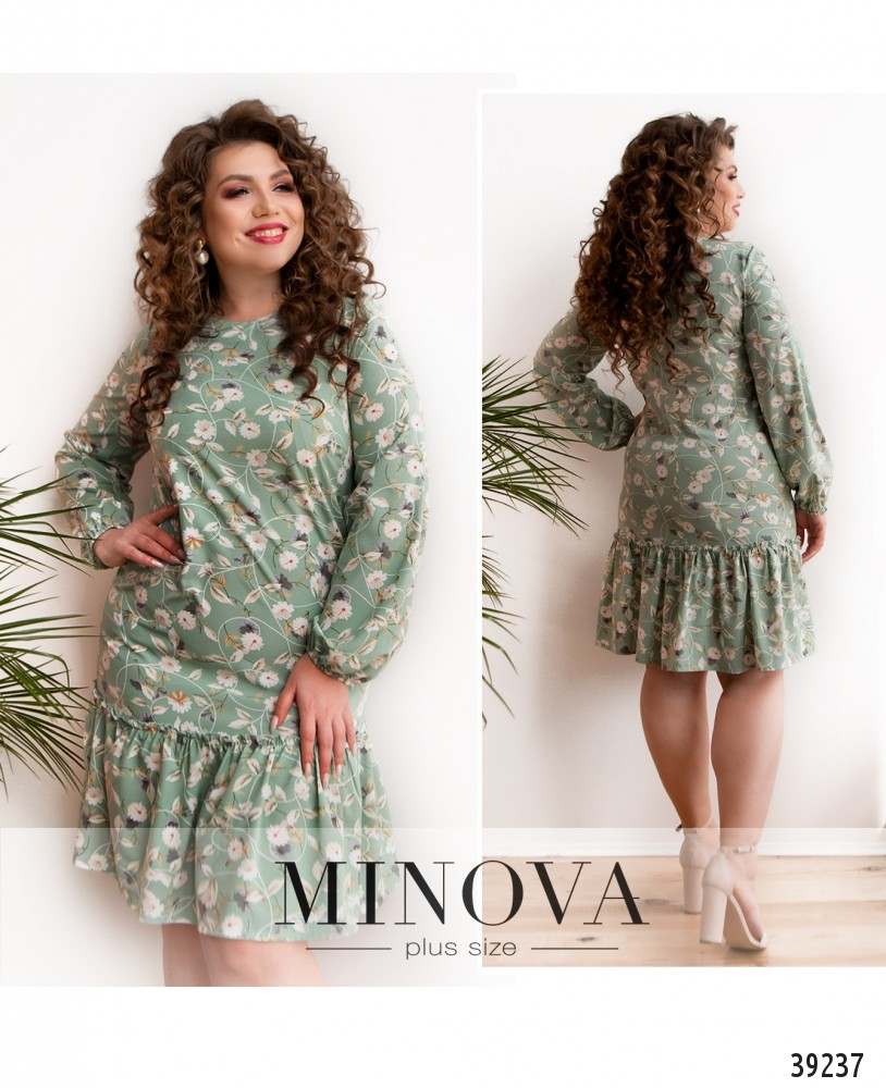 Платье №18072-1-оливка-М