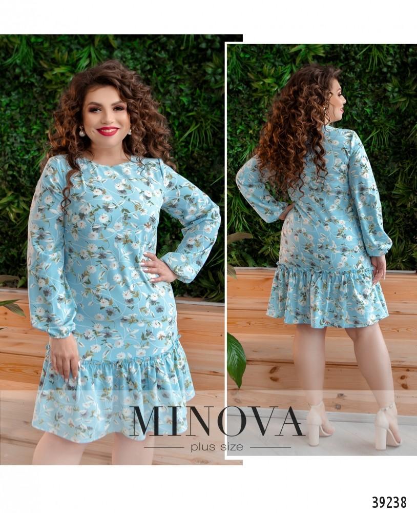 Платье №18072-1-голубой-М