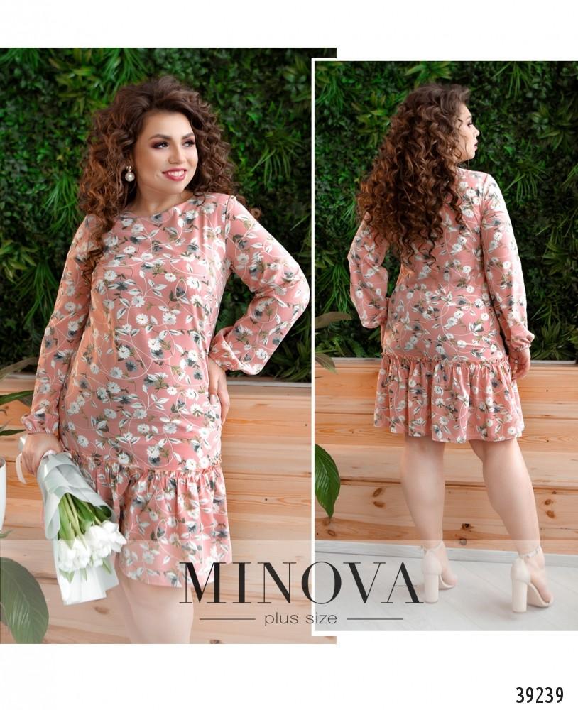 Платье №18072-1-розовый-М