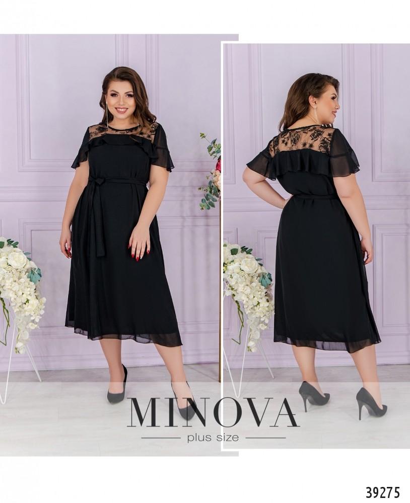 Платье №121Б-черный-М