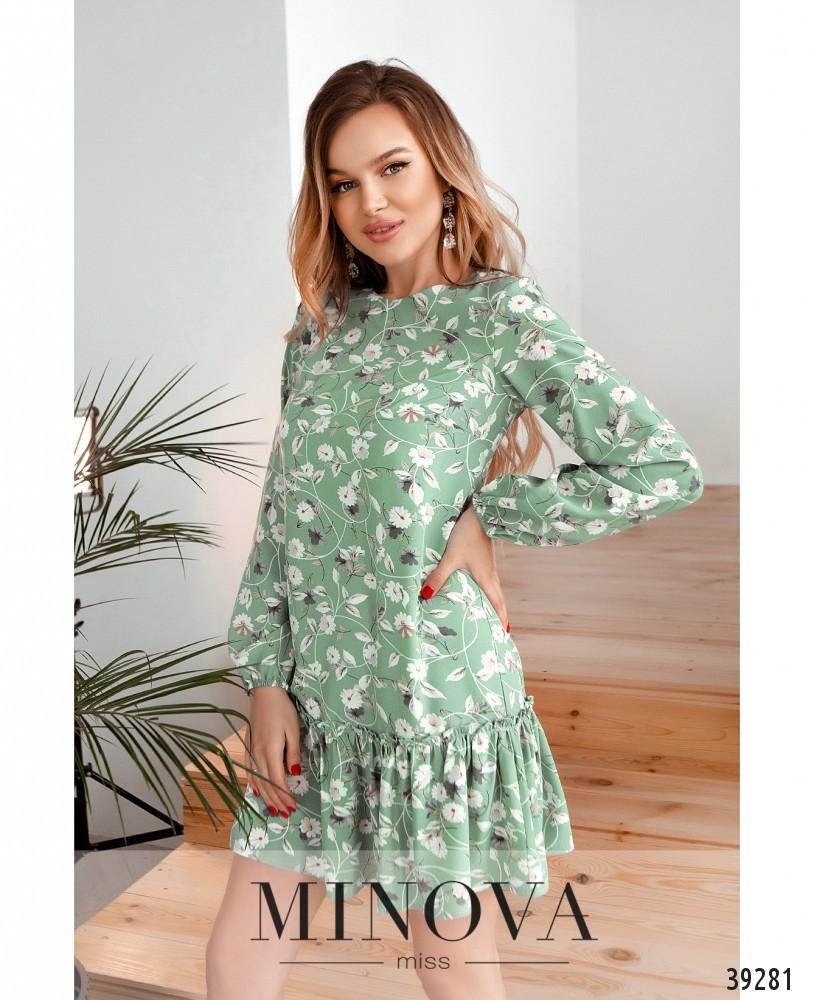 Платье №18072-оливковый (н)