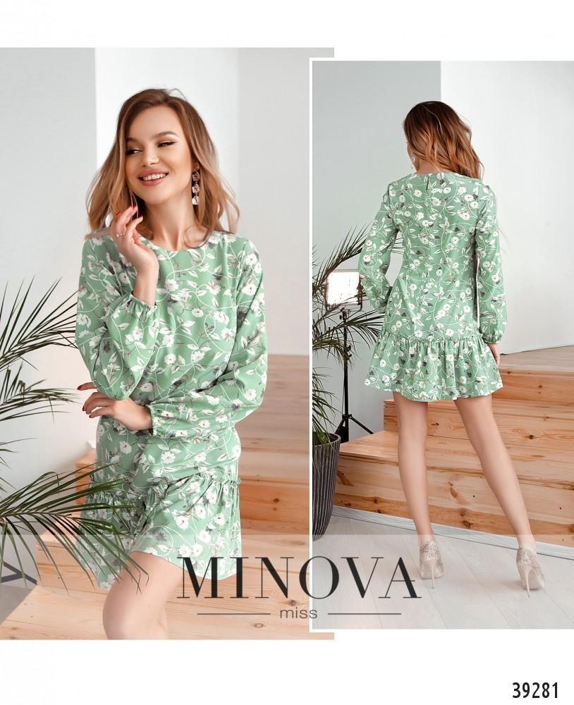 Платье №18072-оливковый-М