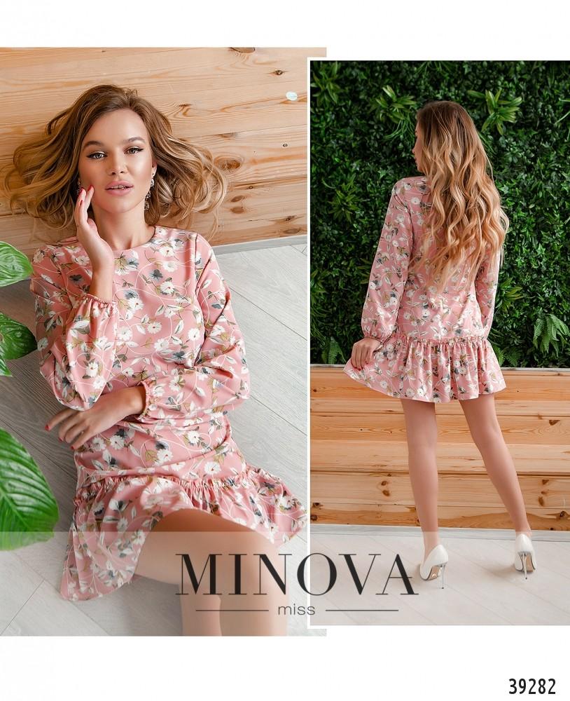 Платье №18072-розовый-М