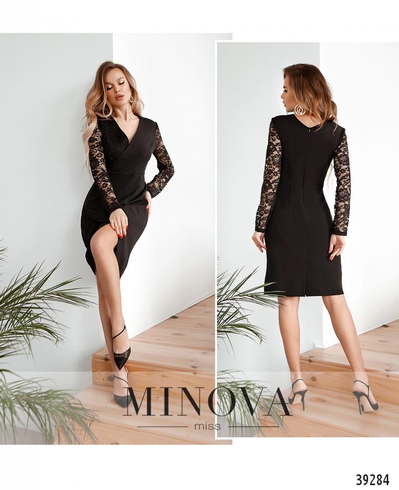 Платье №4124Н-чёрный-М