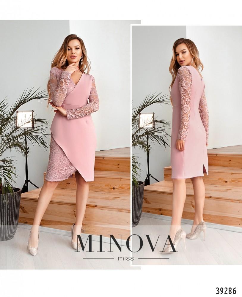 Платье №4124Н-пудровый-М