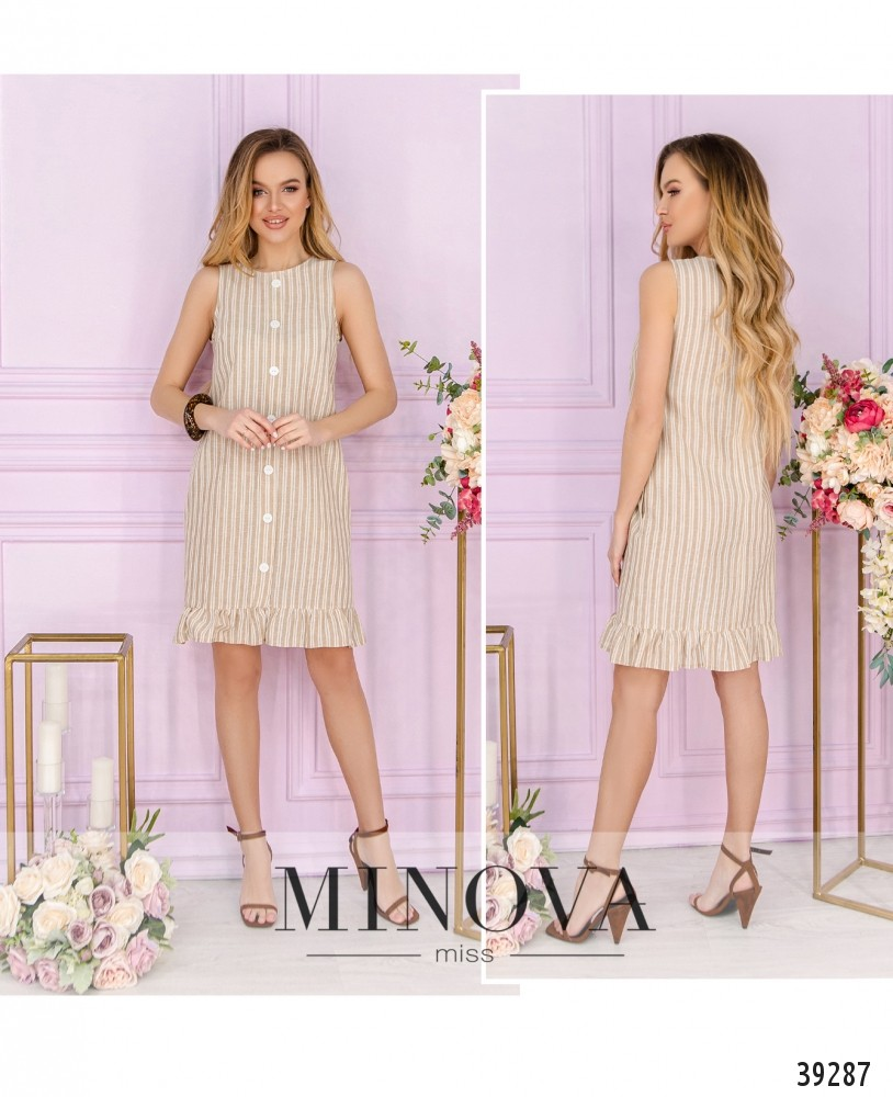 Платье №18431-бежевый-М