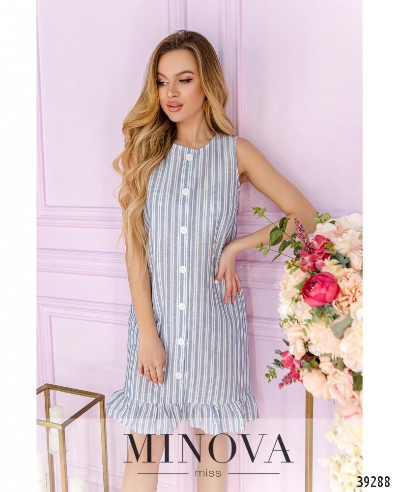 Платье №18431-голубой (н)