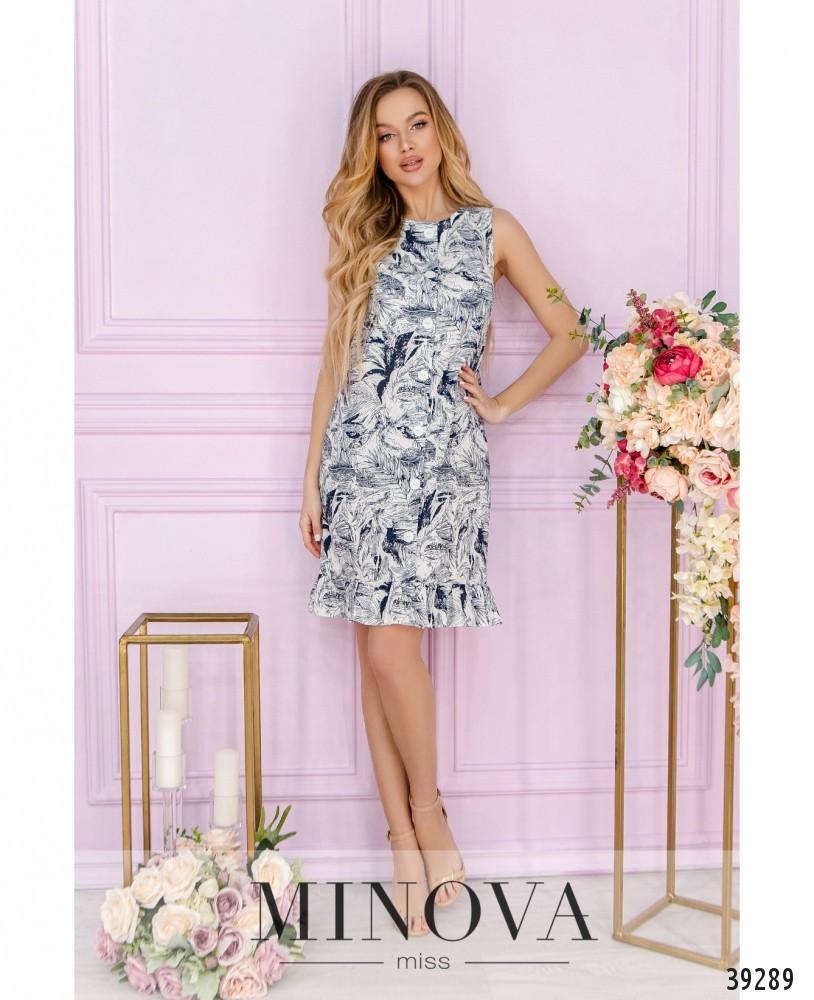 Платье №18431-синий (н)