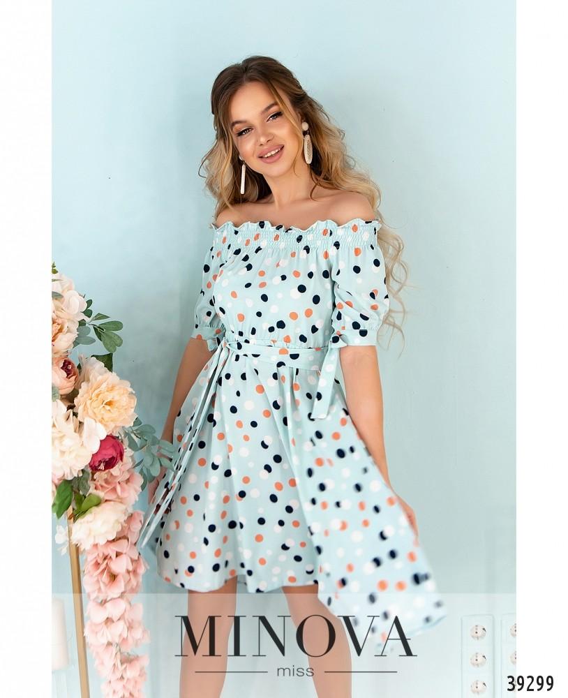 Платье №07-мята (н)