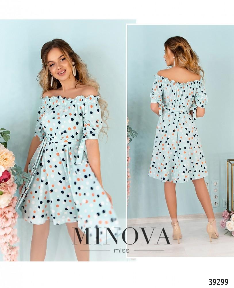 Платье №07-мята-М